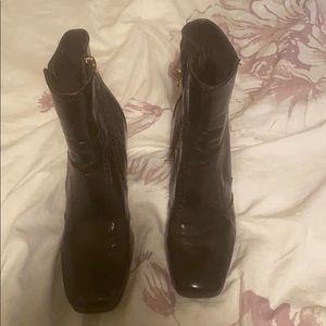Etienne Aigner Brown Leather Boots Size 8.5
